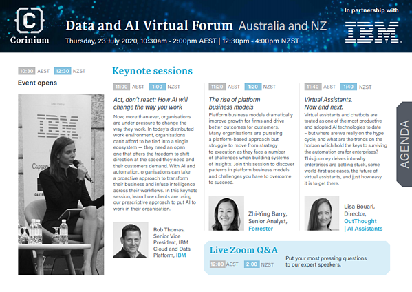 Data and AI Virtual Forum Agenda PDF updated