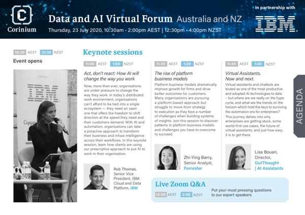 Data and AI Virtual Forum Agenda PDF updated